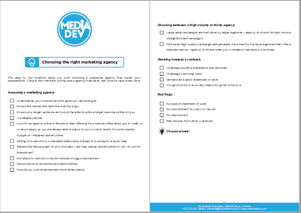 Marketing agency checklist (preview)