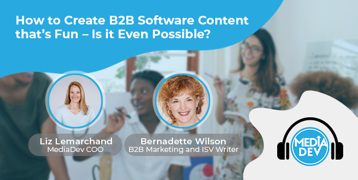 create B2B software content